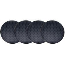 4Pc 56.5mm Black Gridding Wheel Center Hub Cap Cover Emblem Badge Sticker  Decal