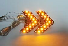 2x 27 SMD LED Side Mirror Sequential Turn Signal Arrow Panel Light Amber Yellow