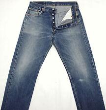 LEVI'S 501 Vintage Ultimate Bleu Jean Classic Red Tab Jeans W33 L33 LVJ391