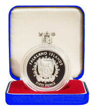 1977 Falkland Islands Silver Proof Crown Coin Her Majesty's Silver Jubilee