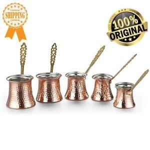 Turkish Ottoman Copper Coffee Pot HandMade Ibrik Vintage Jazzva Briki Hammered