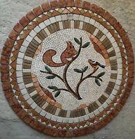 ROsoni rosone mosaico in marmo rosa dei venti diam. 90 incollata su rete Cod 800