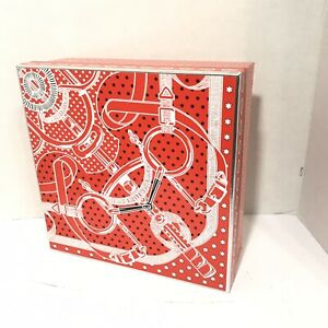 HERMES Empty Gift Box large Holiday Box with pillow and tissue red New Rare