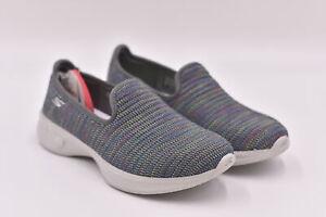 Women's Skechers Go Walk 4 - Select Slip On Loafers, Grey / Multi, 5.5