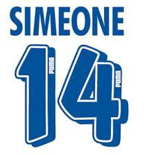 Atletico Madrid Simeone Nameset Shirt Soccer Number Letter Heat Print Football