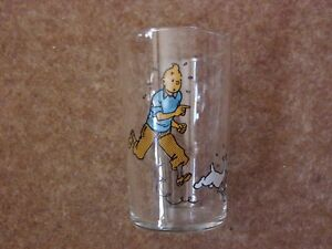 Lovely Tintin Glass - Tintin & Snowy circa 1960s - very rare