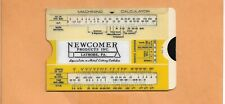 NEWCOMER PRODUCTS MACHINING CALCULATOR  VINTAGE  ADVERTISING