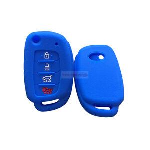 Fit HYUNDAI Sonata Tucson 4 Button Remote Smart Key Fob Silicone Cover Skin Case