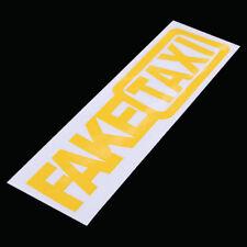 Pair FAKE TAXI Fake Car Auto Van Vinyl Funny Sticker Decal Decoration Yellow USA