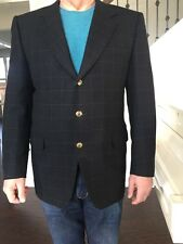 Canali Wool & Cashmere Men's Dark Gray Blazer Size 52 It, L USA