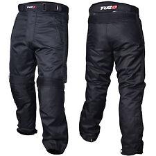 Tuzo Comfort Motorcycle Waterproof Textile Trousers Regular Leg 30 Black 6XL