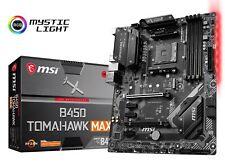 MSI B450 TOMAHAWK MAX Socket AM4 AMD B450 SATAIII USB3.2 Gen2 ATX Motherboard