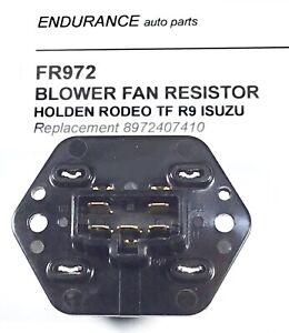 HOLDEN TF RODEO ISUZU HEATER FAN SPEED RESISTOR CONTROLLER suit 1994 - 2002