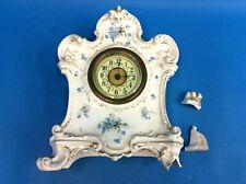 Clocks Antique Delft Mantle Clock S Marti Movement K7 Antique (pre-1930)