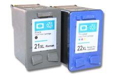 2 XL original vhbw® Drucker Patronen für HP 21 / HP 22 Deskjet F380 schwarz + co
