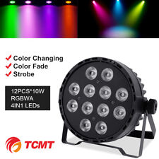 120W RGBW Stage 12 LED Wash PAR Light DJ Lighting DMX-512 Color Mixing Party US