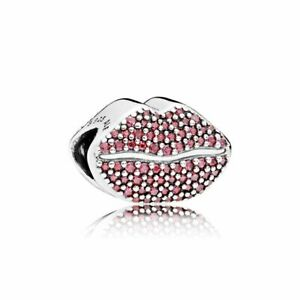 Authentic Pandora Kiss More, Red CZ Charm #796562CZR Valentine's Day 2018 new