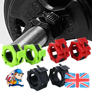 """2Pcs 50mm Olympic 2""""Spinlock Collar Barbell Dumbell Clips Clamp Weight Bar Lock"""