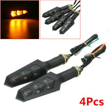 4Pcs 6LED Motorcycle Bike ATV Turn Signal Indicator Light Turning Amber Lamp 12V
