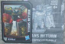 Transformers Titans Return RUMBLE Manual Bio Card