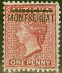 Montserrat 1883 1d Red SG6 P.12 Fine Mtd Mint