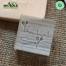 4X4cm 0078 DIY  Natural Handmade Acrylic Soap Seal Stamp Custom Soap Stamps