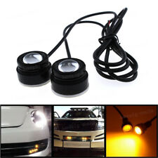 2X High Power 3k Amber COB LED Eagle Eye Underbody Car DRL Fog Light Motorcycle