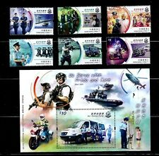 HONG KONG 2019 OUR POLICE FORCE STAMP SET + S/S VF MNH