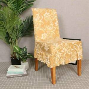 Wedding Banquet Dining Room Chair Cover Party Decor Stretch Seat Slipcover R