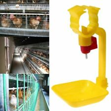 10pcs Automatic Chicken Water Drinking Cup Poultry Birds Hanging Feeders Nipple