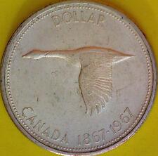1967 Canadian Silver Dollar Centennial $1.00 Canada Silver  #1