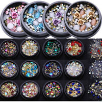 Nail Art 3D Rhinestones Jewelry Gems Mixed Glitter Charming Nail Art Decorations