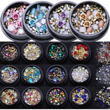 Rose Kristall Nagel Glitzer Straßsteine Jewelry Gems Mix 3D Nail Decoration