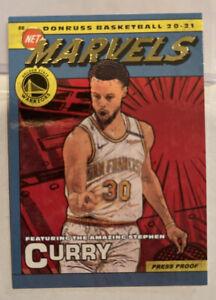 20-21 Donruss Net Marvels Steph Stephen Curry Gold Foil Press Proof 🔥🔥🔥