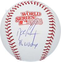 """Dwight Gooden Mets Signed 1986 World Series Logo Baseball & """"86 WS Champs"""" Insc"""