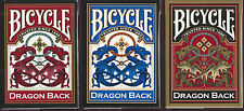 3 DECKS RED-BLUE-GOLD Bicycle Dragon Back playing cards FREE USA SHIPPING