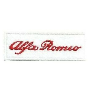 [Patch] ALFA ROMEO fondo BIANCO cm 9 x 3 toppa ricamata ricamo REPLICA -278
