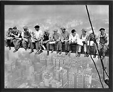 Lunch Atop a Skyscraper. Vintage Photo Poster Reproduction. Black Frame #5