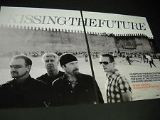U2 Kissing The Future Large Two-Piece Extended Promo Poster Ad from 2009