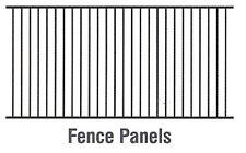 Pool & Garden Fencing Strong Aluminium Black or Cream