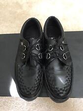 TUK Men's Size 11 Black Creeper Crossbones Punk Goth Rockabilly Shoes