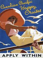 TRAVEL Canadian Pacific felice CRUZE Oceano Sea Gull SOLE Canada POSTER 2334py