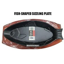 35cm. Fish Shaped Cast Iron Sizzling Plate