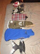 Small/Medium dog clothes lot of 7/ mostly boy clothes