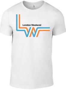 London Weekend Television T-shirt TV 1970s Logo Retro BBC British Regional LWT W
