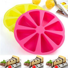 Cake Mold, Soap Mold 8-Triangle Round Mold Silicone Mould For Candy Chocolate