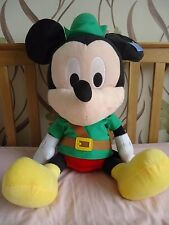 "LARGE DISNEY MICKEY MOUSE Plush Toy as Robin Hood With Tags 28"" Tall **UNUSED**"