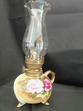 "Antique Vintage Porcelain ""China"" Mini Oil Lamp with finger hold stamped E3317"