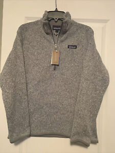Patagonia Womens Better Sweater 1/4 Zip Fleece Birch White Size S