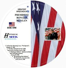 GREATEST SPEECHES OF PRESIDENT RONALD REAGAN ON 2 AUDIO CDs (Challenger, Etc.)